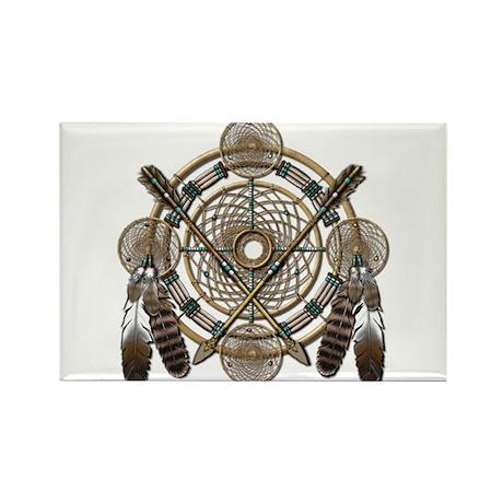 Dreamcatcher Medicine Wheel Rectangle Magnet (100