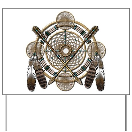 Dreamcatcher Medicine Wheel Yard Sign