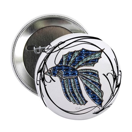 "Beta Fish 2.25"" Button (10 pack)"