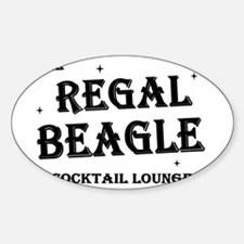 The Regal Beagle Sticker (Oval)