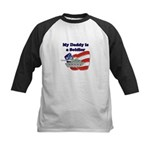 My Daddy is a Soldier Tank Kids Baseball Jersey