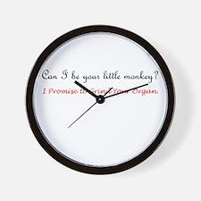 Monkey Grind Your Organ Wall Clock
