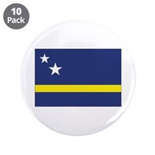 "Curaçao Flag 3.5"" Button (10 pack)"