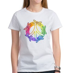 Dragonfly Peace Sign Tee