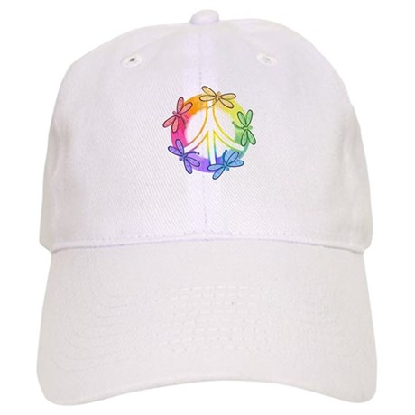 Dragonfly Peace Sign Cap