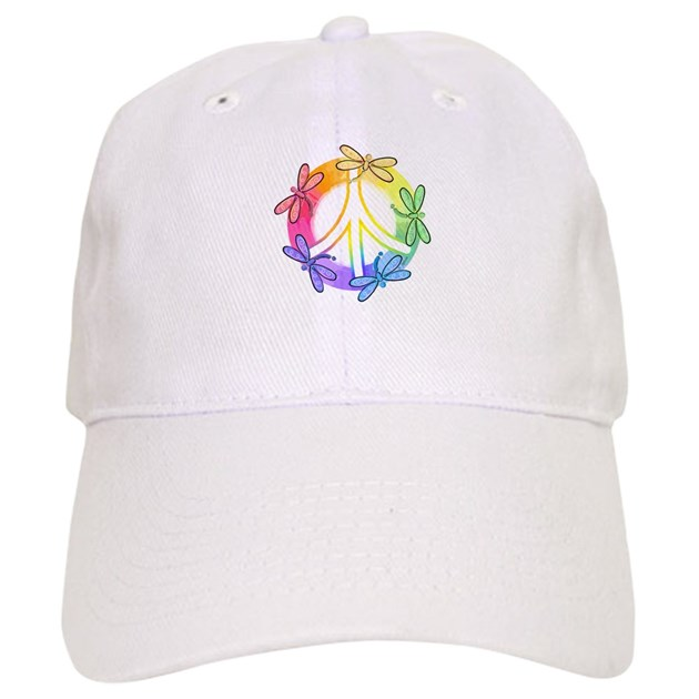 Dragonfly peace sign cap by lilpeaceshop
