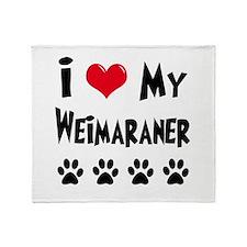 Weimaraner Throw Blanket