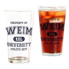 Weimaraner Drinking Glass