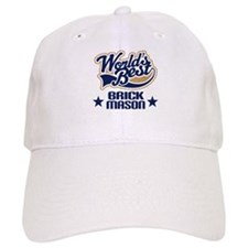 Brick Mason Gift (Worlds Best) Baseball Cap