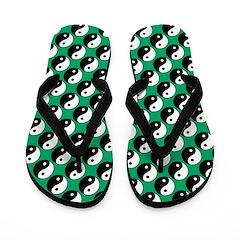 Yin Yang Polka Dot Flip Flops