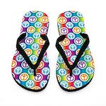 Hippy Peace Polkas Flip Flops