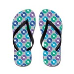 Muted Record Polka Dot Flip Flops