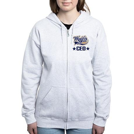 CEO Gift (Worlds Best) Women's Zip Hoodie