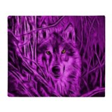 Wolf throws Fleece Blankets