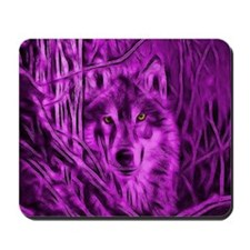 Pink Night Warrior Wolf Mousepad