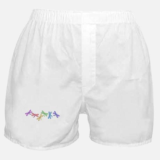 Rainbow Dragonflies Boxer Shorts