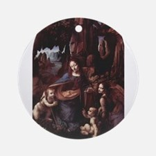 virgin of the rocks Ornament (Round)