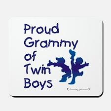 Proud Grammy - Twin Boys BLU Mousepad