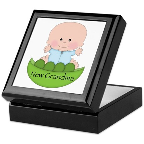 New Grandma (boy) Keepsake Box