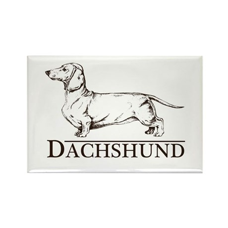Dachshund Breed Type Rectangle Magnet