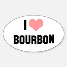 I heart Bourbon Decal