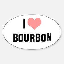 I heart Bourbon Sticker (Oval)
