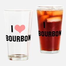 I heart Bourbon Drinking Glass