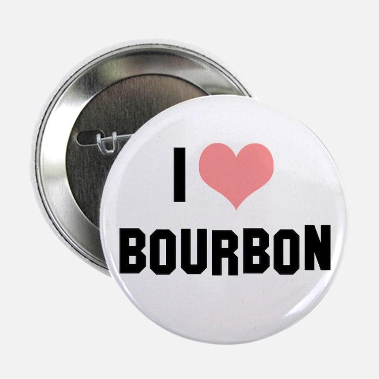 """I heart Bourbon 2.25"""" Button (10 pack)"""