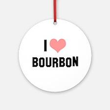 I heart Bourbon Ornament (Round)