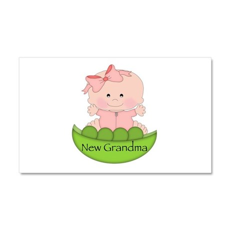 New Grandma (girl) Car Magnet 20 x 12
