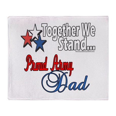 Army Father Throw Blanket