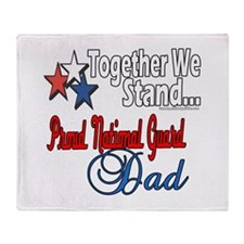 National Guard Father Throw Blanket