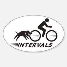 Big Dog Intervals Sticker (Oval)