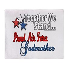 Air Force Godmother Throw Blanket