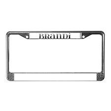 Brandi Carved Metal License Plate Frame