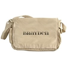 Brayden Carved Metal Messenger Bag