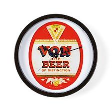 Michigan Beer Label 2 Wall Clock