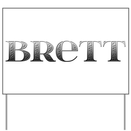 Brett Carved Metal Yard Sign