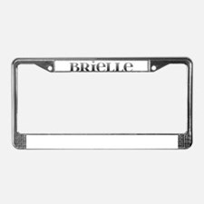Brielle Carved Metal License Plate Frame