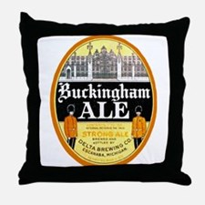 Michigan Beer Label 4 Throw Pillow