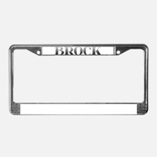 Brock Carved Metal License Plate Frame