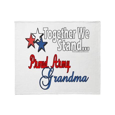Army Grandma Throw Blanket