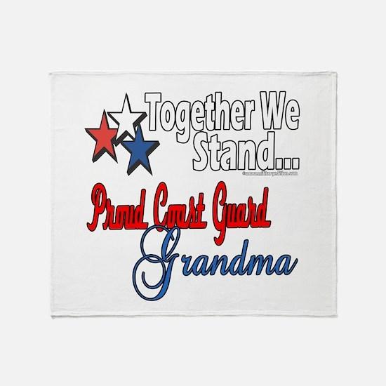 Coast Guard Grandma Throw Blanket