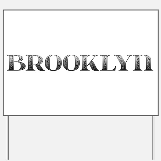 Brooklyn Carved Metal Yard Sign