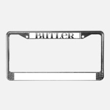 Butler Carved Metal License Plate Frame