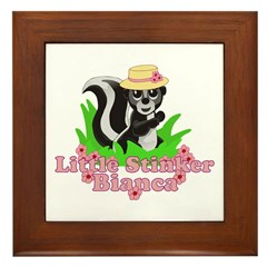 Little Stinker Bianca Framed Tile