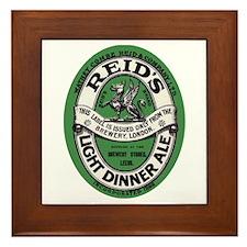 United Kingdom Beer Label 6 Framed Tile