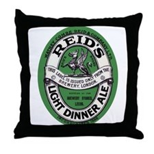 United Kingdom Beer Label 6 Throw Pillow