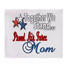 Air Force Mom Throw Blanket