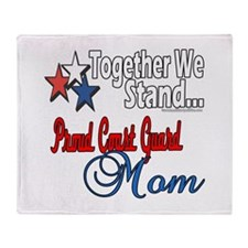 Coast Guard Mom Throw Blanket